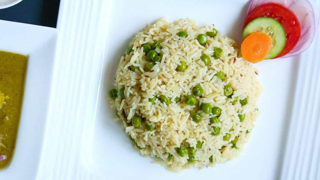 Homemade Mutter Pulao