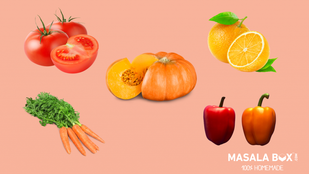 Benefits of colors to your plate - Red ad orange